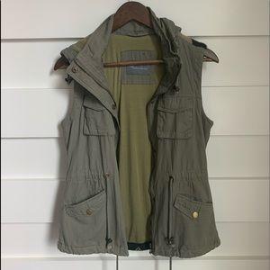 (NWOT) Fashionomics // Army Green Jacket Vest